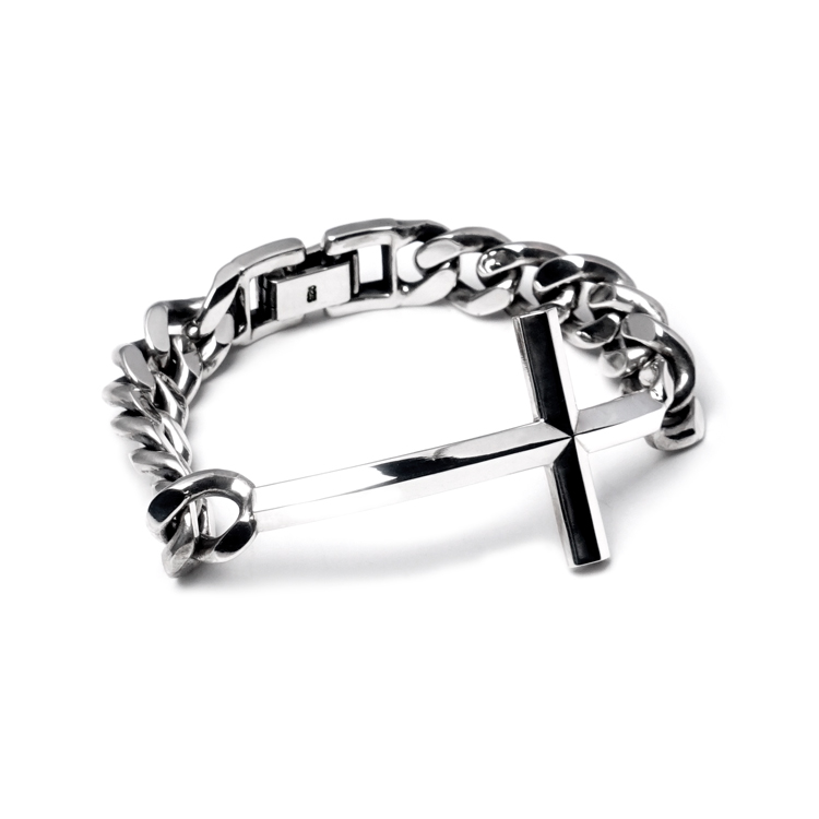 CROSS SILVER CHAIN BRACELET