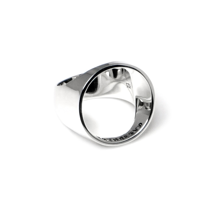EMPTY SILVER RING (SIZE 8)