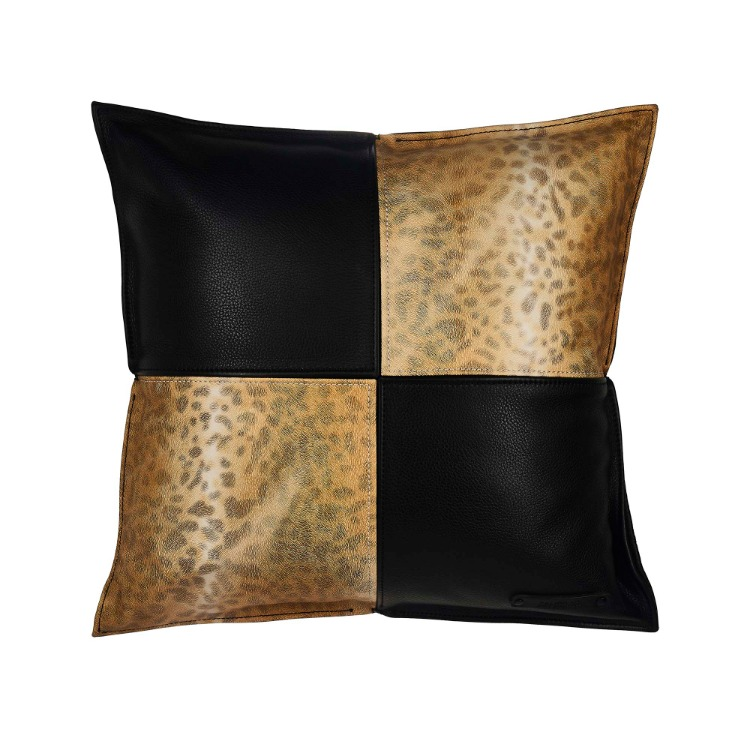 LEOPARD LEATHER CUSHION