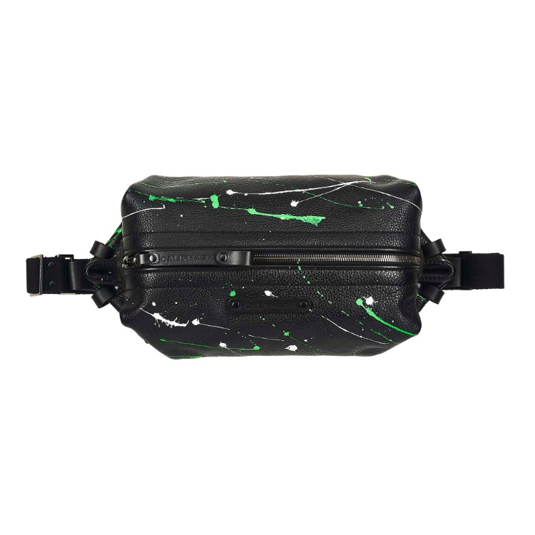 GREEN PAINTING SLING BAG