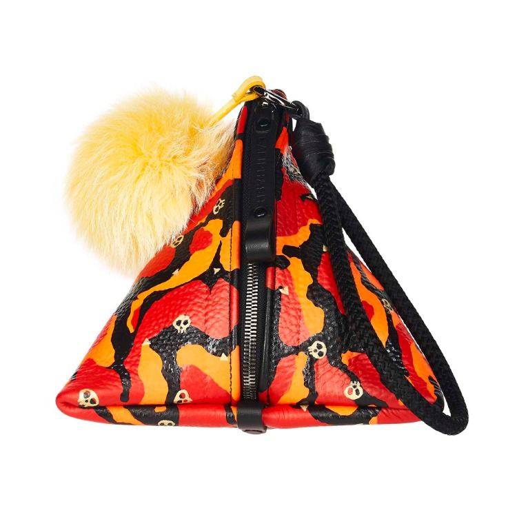CALIPHASH X MINA KWON TINY SKULL TRIANGLE BAG