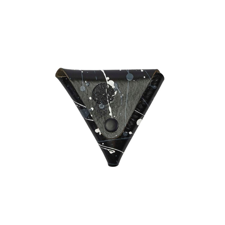 GREY PAINTING TRIANGLE COIN PURSE