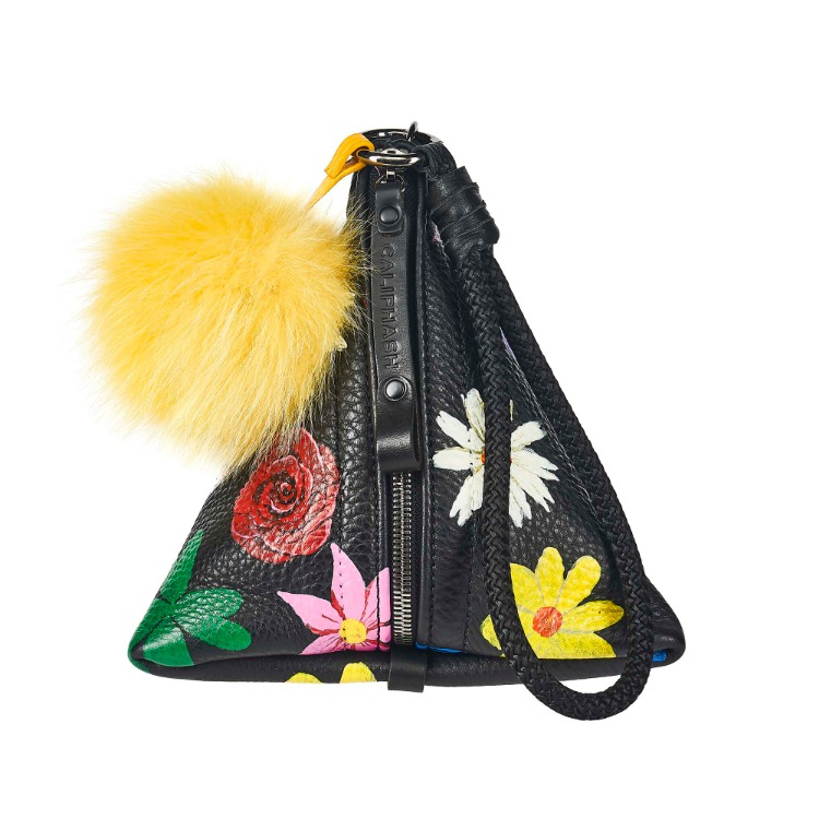 CALIPHASH X MINA KWON FLOWER TRIANGLE BAG