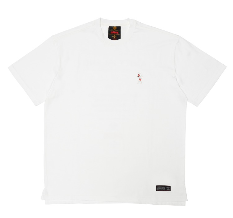 [CALIPHASH X UNIVERSAL] JAWS DRESSED T-SHIRT(WHITE)
