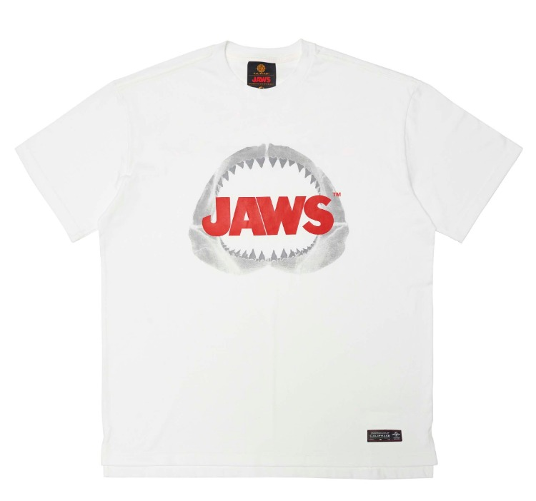 [CALIPHASH X UNIVERSAL] JAWS TEETH BONE T-SHIRT(WHITE)