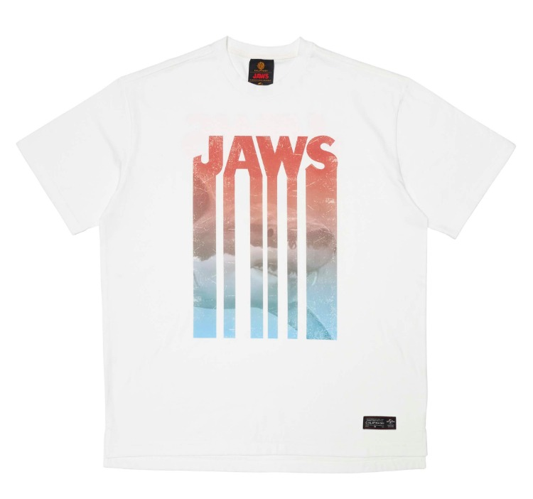 [CALIPHASH X UNIVERSAL] JAWS ART T-SHIRT(WHITE)