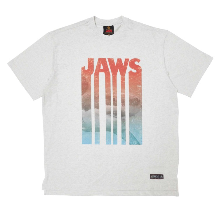 [CALIPHASH X UNIVERSAL] JAWS ART T-SHIRT(MELANGE)